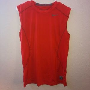 Nike orange cut off